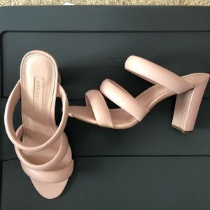 Pink strappy sandals size 10